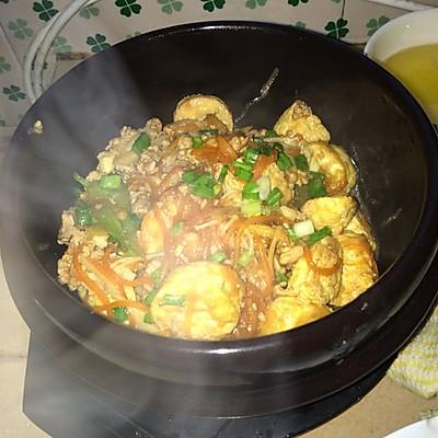 日本豆腐肉末煲