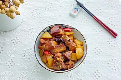 5分钟学会,懒人下饭菜,排骨炒土豆