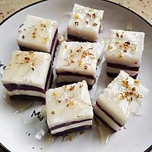 桂花蜂蜜紫薯山药糕
