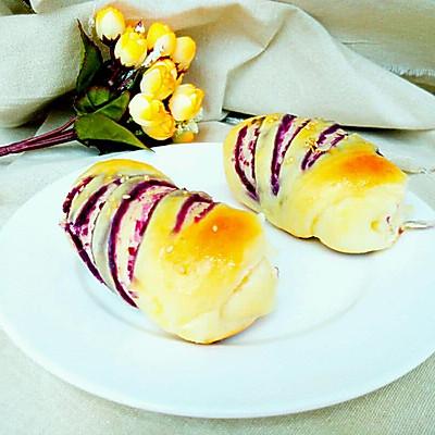 紫薯小餐包~健康无油好早餐