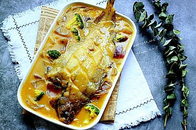 咖喱加拿大灰鲽鱼