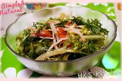 <快手下酒菜>酱豆银条拌苦菊