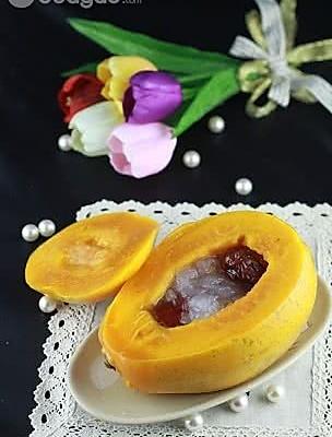 美容圣品木瓜炖雪蛤的做法