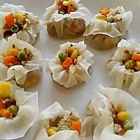 李孃孃爱厨房之一一糯米烧麦(饺子皮版)的做法图解1