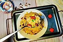 #合理膳食 营养健康进家庭#腊肠鸡蛋炒饭的做法