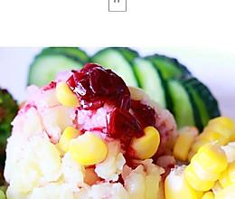 〖减肥党〗蓝莓酱土豆泥蔬菜沙拉~的做法