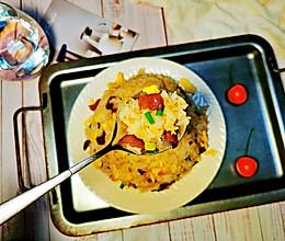 #夏日消暑,非它莫属#好吃又快手~腊肠鸡蛋炒饭的做法