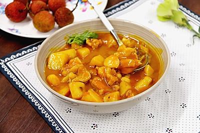 咖喱土豆雞蓋澆飯·小美的美食