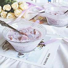 紫薯西米炖牛奶