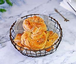 #换着花样吃早餐#紫薯椰蓉面包的做法