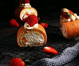 草莓浮云卷的做法