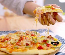口感甩必胜客十条街的什锦培根蔬菜披萨(含披萨饼制作方法)的做法