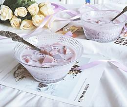 紫薯西米炖牛奶的做法
