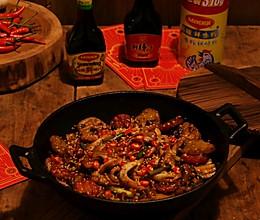 #福气年夜菜#蟹柳土豆香辣干锅的做法