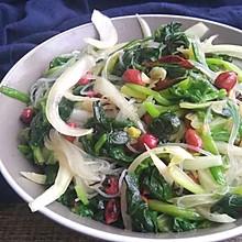 清清肠爽口的凉拌菠菜