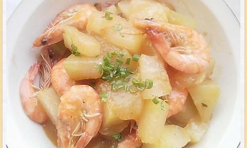 鲜虾烧冬瓜的做法