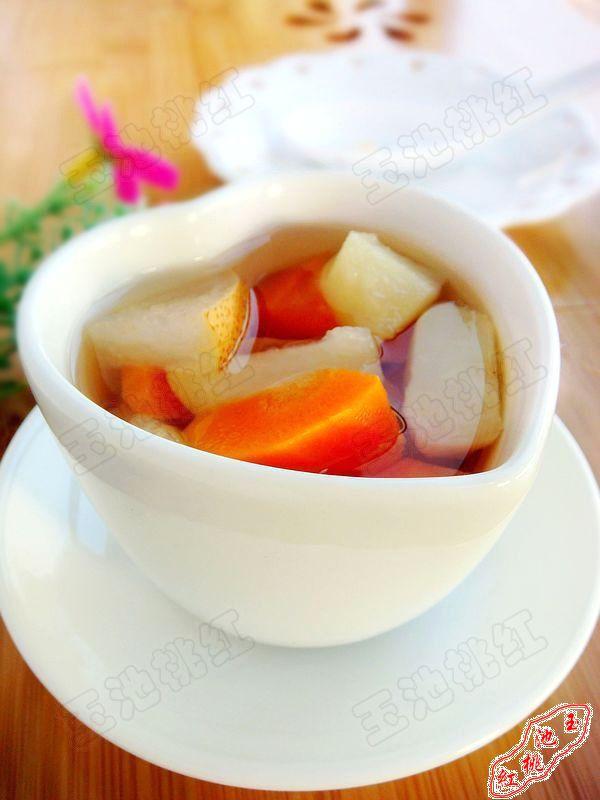 马蹄雪梨胡萝卜糖水的做法