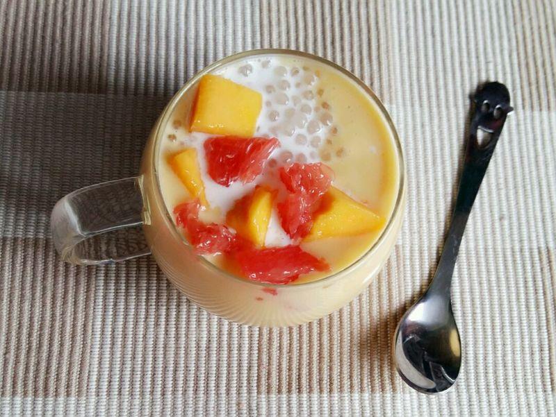 芒果椰奶西米露--杨枝甘露