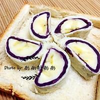香蕉紫薯卷#急速早餐#