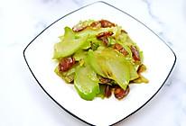 #餐桌上的春日限定#佛手瓜炒腊肠简单易上手美味蔬菜。的做法