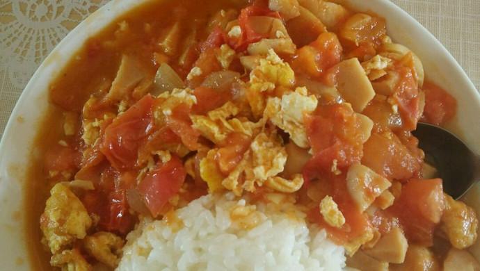一个人的午餐——西红柿鸡蛋盖饭