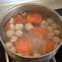 西红柿豆芽肉丸汤的做法图解7