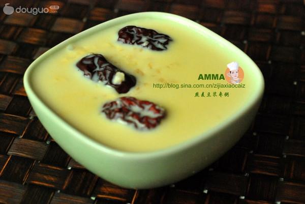 燕麦豆浆枣粥的做法