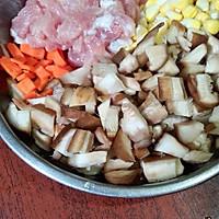 简单电饭煲香菇肉丝煲仔饭的做法图解1