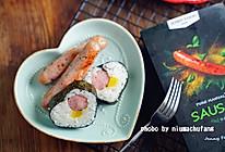 罗勒香肠寿司的做法
