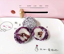 #麦子厨房美食锅#蔓越莓紫薯山药椰球的做法