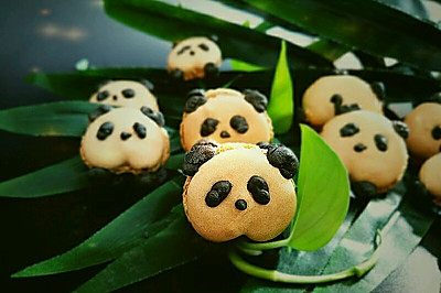 熊猫马卡龙#马卡龙·奶油蛋糕看过来#