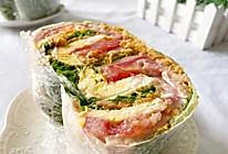 #我们约饭吧#不用面包片的蔬菜三明治的做法