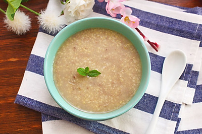 小米猪肝粥  补铁食谱