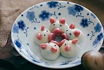 现磨花生黑芝麻馅内酯豆腐小猪汤圆的做法