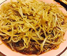 豆芽炒粉条的做法