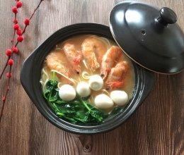 菠菜鲜虾面的做法