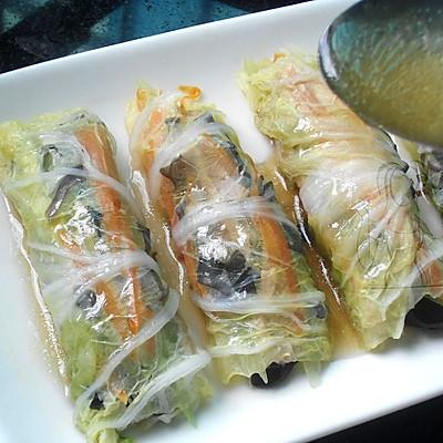 蒸白菜卷 #方太蒸爱行动#的做法 步骤8