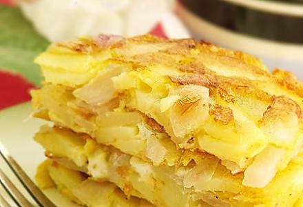 西班牙土豆鸡蛋饼的做法