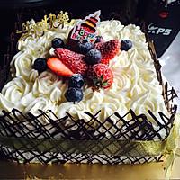 8寸生日蛋糕(方形)的做法图解17