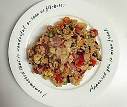 营养杂粮五色炒饭的做法