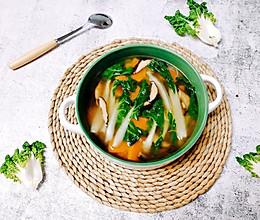 奶白菜蘑菇南瓜汤  #花10分钟,做一道菜!#的做法
