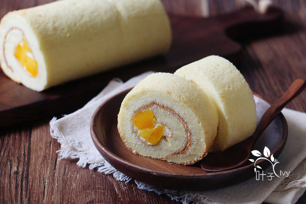 芒果蛋糕卷的做法