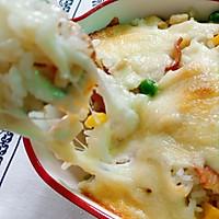 培根鲜蔬焗饭的做法图解6