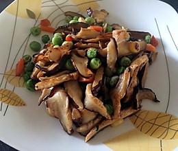 降压食谱6—豌豆炒香菇!的做法