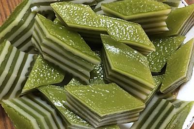 斑斓椰汁糕