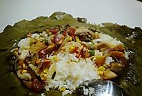 荷香满溢—飘香糯米荷叶鸡饭的做法