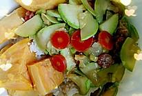 西葫芦炒腊肠的做法
