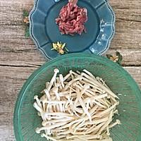 海鲜菇炒肉丝的做法图解1