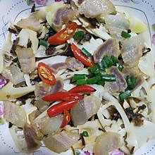梅干菜咸肉蒸春笋