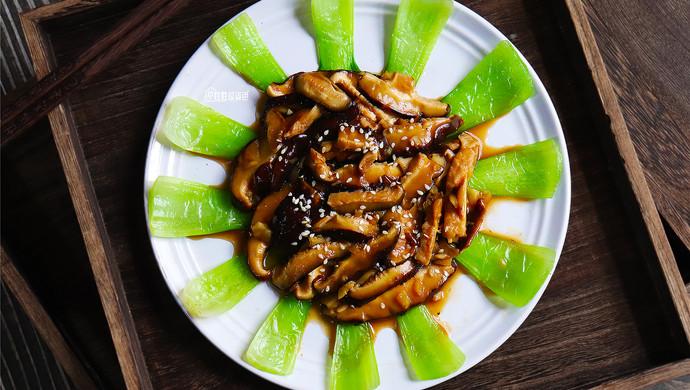 高颜值的香菇青菜